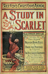 Cover of A Study in Scarlet by Sir Arthur Conan Doyle published 1887
