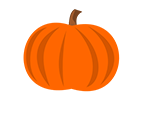 Illustration of a pumpkin saved as a PNG